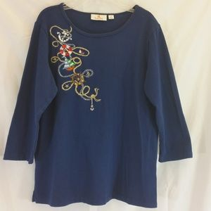💥3 for $20💥 Quacker Factory Top  Size S